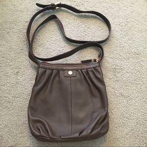 Lodis Brown Leather Crossbody Bag